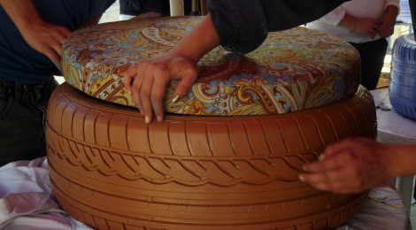 Transformar llantas de desecho en muebles, proyecto de Estudiantes ...