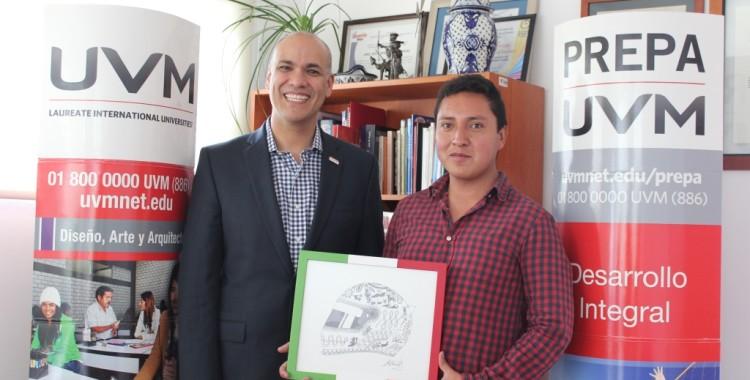 """Triunfa Estudiante de UVM Campus Puebla en el Certamen de Diseño del Casco del """"Checo"""" Pérez"""