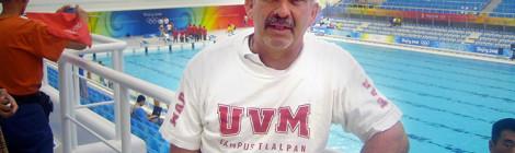 José Peláez, entrenador de natación nacional paralímpica y de la UVM Campus Tlalpan, ganó por segunda ocasión el Premio Nacional del Deporte 2015.
