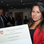Entrega el Colegio de Ingenieros Civiles de México, el Premio a la Excelencia Académica a egresada de UVM Campus Coyoacán