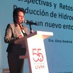 Perspectivas y Retos de la Exploración y Producción de Hidrocarburos, ponencia en UVM Campus Coyoacán de la Dra. Alma América Porres, Comisionada de la CNH